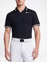 NWT Nike Golf Men's SZ XLarge Dri-Fit Polo Modern Fit 833075 010 Black MSRP $75