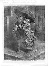 Jo and the Professor  -  Little Women  -  by C. G. Bush  -   1870 Antique Print