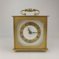 Vintage Astral for Smiths Georgian Style Brass Carriage Mantle Clock. Working