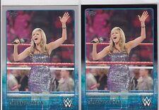 2015 TOPPS WWE SEXY SILVER & BLACK PARALLEL LILIAN GARCIA WRESTLING CARDS READ
