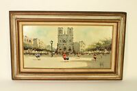1965 Antonio Devity Oil on Canvas Paris Street Scene Art Painting Signed Framed