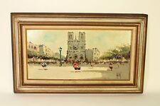 1965 Antonio Devity Oil on Canvas Paris Street Scene Art Painting Signed Framed