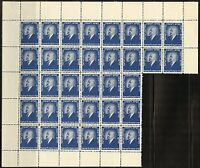 JEWISH NATIONAL FUND LOT  E   CONSISTING OF A PARTIAL SHEET OF 34 STAMPS MINT NH