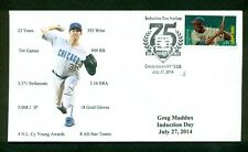 Greg Maddux 2014 Baseball Hall of Fame Induction Cachet-Chicago Cubs