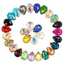 Teardrop 20pcs Mixed Colors Glass Crystal Rhinestones Sew Flatback Claw Cup Bead