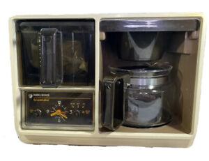 Black & Decker Spacemaker Automatic Drip Coffeemaker SDC1D Complete Analog Clock