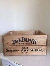 Vintage Wooden Jack Daniel's  Wine Crate Box Storage Shabby Chic Man Cave