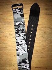 EVISU Camouflage Nylon 24MM Watch Band/Strap