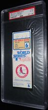 1982 WORLD SERIES GAME 6 TICKET ST LOUIS CARDINALS DARRELL PORTER WS MVP PSA 4