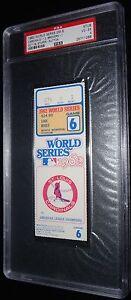 1982 WORLD SERIES GAME 6 TICKET ST LOUIS CARDINALS DARRELL PORTER WS MVP PSA 4