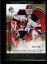 MARTIN BRODEUR 2008/09 08/09 SP AUTHENTIC #131 NOTABLES LIMITED #080/100 AB7710