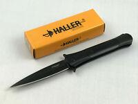 Haller Taschenmesser Stiletto Black Steel Taschenmesser schwarz - 83221
