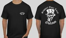 2 sided Support your local Outlaws Biker Motorcycle MC 15 t shirt outlaw knuckle