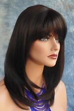 HUMAN HAIR BLEND HEAT FRIENDLY WIG #2 DARK  BROWN CUTE FUN STYLE  USA SELLER 186