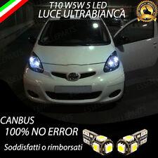 COPPIA LUCI DI POSIZIONE LED TOYOTA AYGO T10 W5W CANBUS 100% NO ERROR