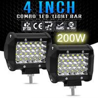 """200W 4"""" LED Combo Work Light Bar Spotlight Off-road Driving Fog Lamp Boat Truck"""