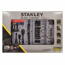 Stanley 226-Piece Mechanics Tool Set in Black Chrome in Hard Case(STMT80275)