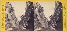 Allemagne La Gorge de l'Adlitz-Graben Semmering Photo Stereo C. Gaudin Albumine