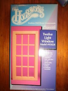 NW Houseworks Playscale Fashion Doll House 1/6 1/8 Scale 12 Light Window #95024