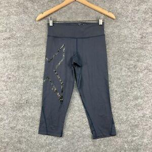 2XU Womens Leggings Size Small Grey Capri Stretch Fitted Compression 175.09