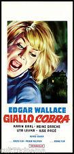 GIALLO COBRA 1° TIPO LOCANDINA CINEMA ALFRED VOHRER HORROR 1968 PLAYBILL POSTER