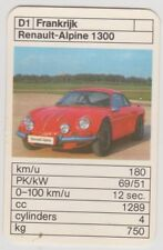 Kwartet kaart / Quartet Card / Spielkarte Cars Renault-Alpine 1300