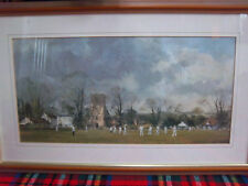 Framed & Glazed Print 'The Opening Match' from a Painting by Roy Perry R.I