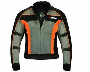 Herren Textiljacke grau schwarz sportliche Motorrad Mesh Sommer Jacke Gr S-5XL