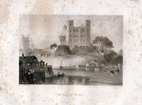 Rochester Castle 1842 original illustrated chapter (36 p.) with 20 engravings