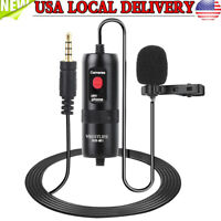 3.5mm Clip-on Lapel Mini Lavalier Mic Microphone For Mobile Phone PC Record