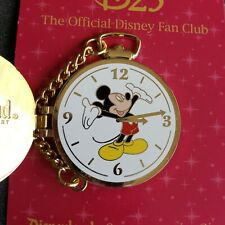 Disneyland D23 Exclusive Stop Watch - Mickey Mouse Hinged Clock Le Pin