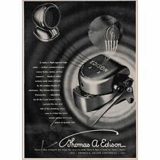 1947 Thomas A Edison: Electronic Voicewriter Ear Tuned Jewel Vintage Print Ad