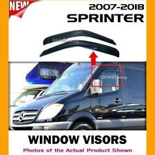 WINDOW VISORS for 2007 → 2018 Mercedes Benz Sprinter / DEFLECTOR RAIN GUARD VENT