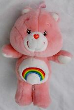 "Plush 13"" Peachy Pink Care Bear w Rainbow Tummy"