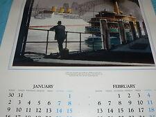 Vintage Australian Calender South Wales 1989 Sydney Ferries Signed Phil Belbin