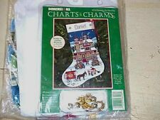 CHRISTMAS PAST STOCKING Cross Stitch Kit Dimensions Charts & Charms,floss,Aida