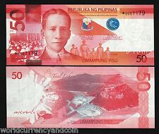 PHILIPPINES 50 PESOS NEW 2010 *REPLACEMENT* FISH TAAL LAKE OSMENA UNC ASEAN NOTE