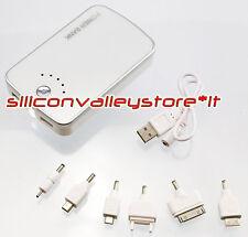 Power Bank 12000 MAH Batteria Esterna USB IPhone Samsung HTC Nokia LED Bianco