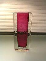 Mid Century Modern Sommerso Art Glass Vase Signed