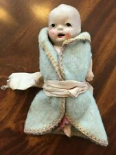 """Vintage BISQUE INFANT Baby Doll Made in Japan Tiny 3.5"""""""