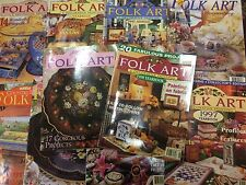 FOLK ART MAGAZINES SET x10 Decorative Painting