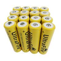16pcs 3.7V Battery 18650 9800mAh Li-ion Rechargeable Batteries for Flashlight