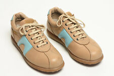 CAMPER sz 39 Tan and Aqua PELOTAS. Made in SPAIN