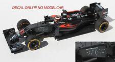 decal McLaren MP4-31 2016 Vandoorne Button Alonso STARS 1/18 F1 spark minichamps
