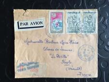 Obitération Tunis-Thameur 1962 Lettre Enveloppe Recommandée Reg Cover