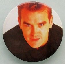 MORRISSEY  LARGE VINTAGE METAL PIN BADGE FROM 1990's THE SMITHS SUEDEHEAD