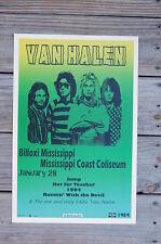 Van Halen Tour Poster 1984 Billoxi Mississippi Coast Coliseum