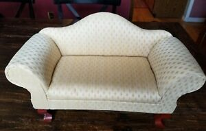 Vintage Kingstate Large Upholstered Doll Sofa Couch