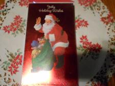 LOT OF 6 SANTA CHRISTMAS MONEY/CARD HOLDERS..... SEAL