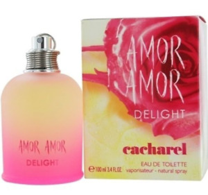 AMOR AMOR DELIGHT by Cacharel EDT SPRAY 3.4 OZ for WOMEN, Discontinued, RARE